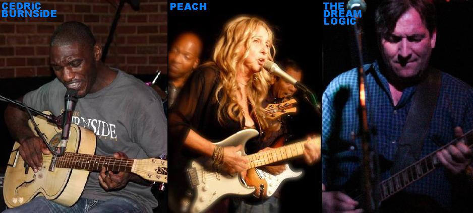 Rockwired.com's Jazzed And Blue Presents Music And Exclusive Interviews With Cedric Burnside, Blues Singer-Songwriter Peach, and Jazz Rock Fusion Band Dream Logic